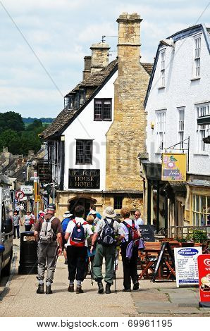 Walkers along High Street, Burford.