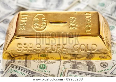 Gold Bullion Moneybox