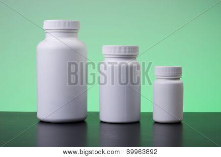 Supplements, medications or vitamin bottle