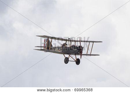 SE5A Biplane in flight