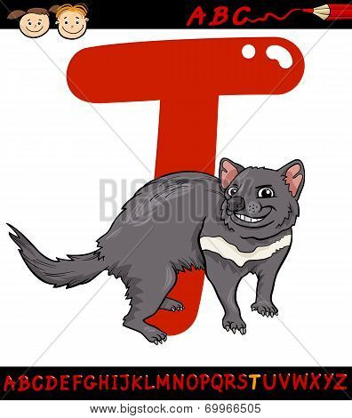 Letter T For Toad Cartoon Illustration