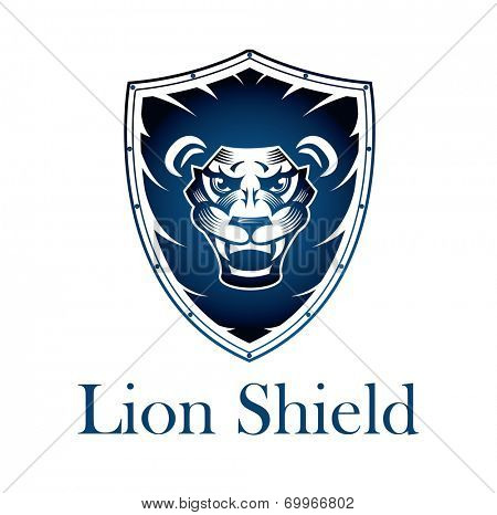 Lion on a Shield - This design suitable for any company or organization looking for a strong corporate Image.