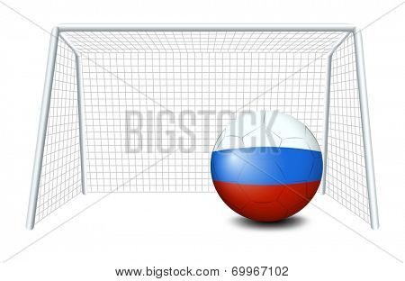 Illustration of a soccer ball with the flag of Netherlands on a white background