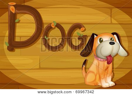 Illustration of a frame with a dog