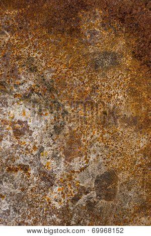 Old rusty sheet metal