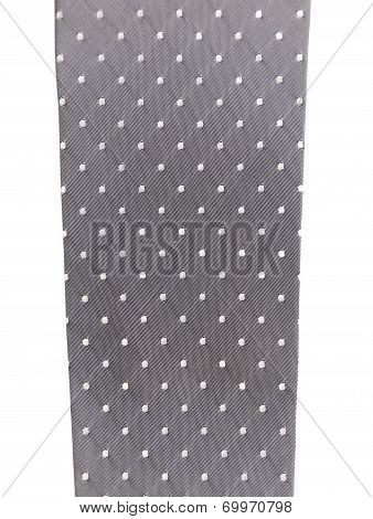 Gray tie with white speck.