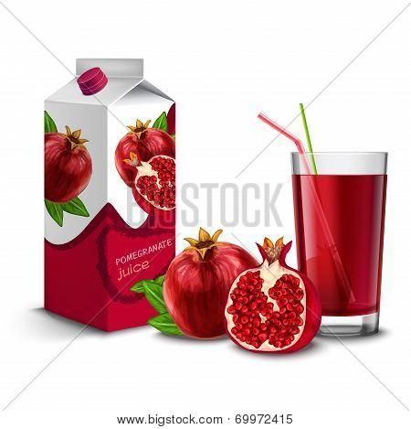 Pomegranate juice set