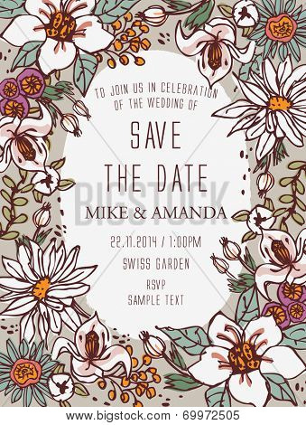 Floral Save the Date - Botanical Blooms