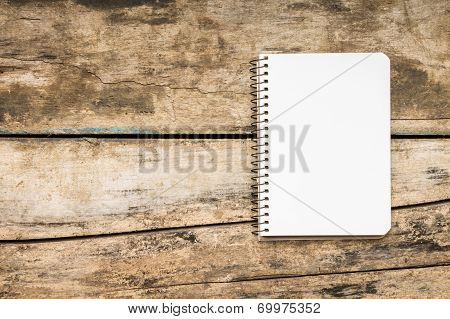 Recipe Book On Textured Wood Background
