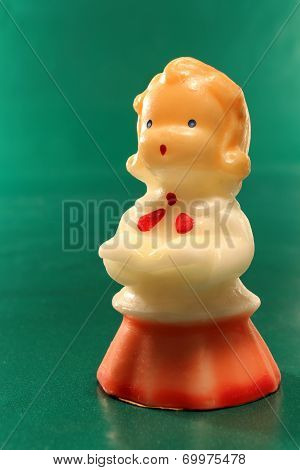 Antique Decorative Christmas Choir Candle Girl Figurine