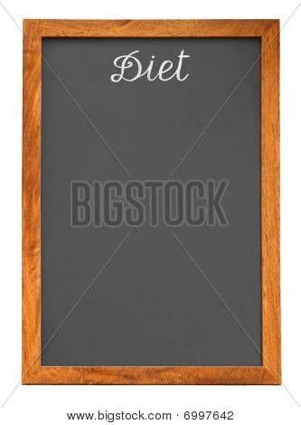 Menu Chalkboard For Diet Food List