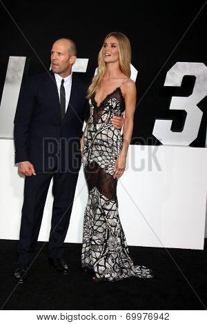 LOS ANGELES - AUG 11:  Jason Statham, Rosie Huntington-Whiteley at the