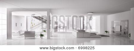 White Apartment Interior 3D