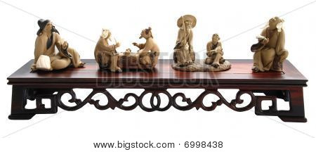 Chinese Old Men Sculpture