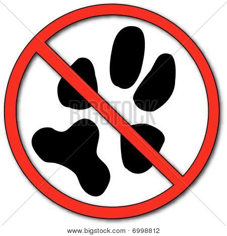No Symbol With Paw Print.