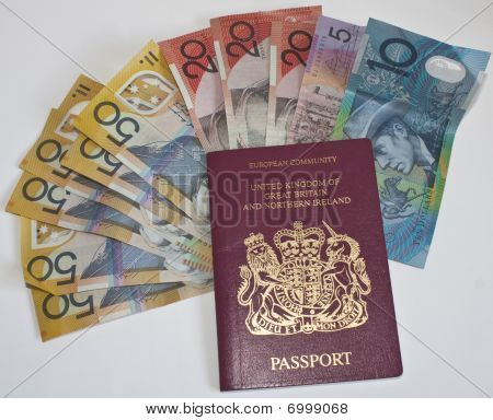 Autralian Dollars And Passport