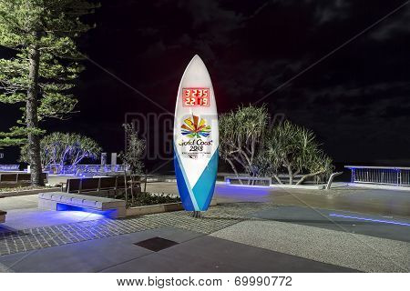 Gold Coast Commonwealth Games countdown clock