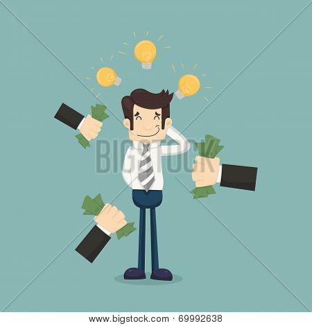 Businessman Get Idea