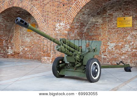 Russia, Nizhny Novgorod - Aug 06, 2014: Soviet Anti-tank 76 Mm Gun Of The Second World War, Zis-3