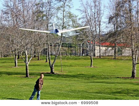 Boy and Toy Airplane