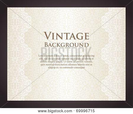 Luxury Cream Background In Vintage Style