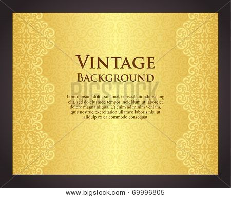 Luxury Golden Background In Vintage Style