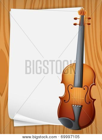 Illustration of a banner with violin