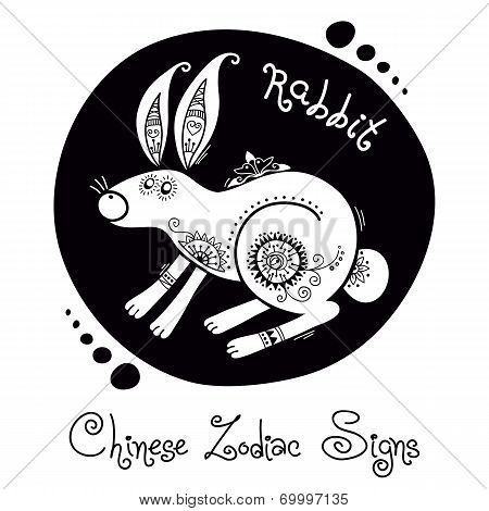 Rabbit. Chinese Zodiac Sign
