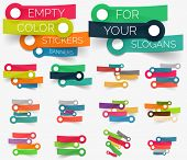 foto of slogan  - Vector collection of paper sticker banners  - JPG