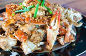 pic of cooked crab  - Blue crab cooked in traditional Thai style - JPG