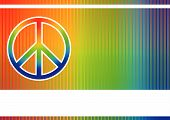 stock photo of peace-sign  - Editable vector colorful background with peace sign and space for your text - JPG