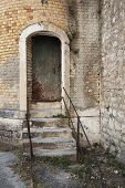stock photo of dungeon  - Old port with stairs - JPG