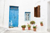 stock photo of greek-architecture  - Architecture on the Cyclades - JPG