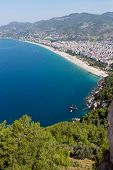 picture of cleopatra  - Alanya - the beach of Cleopatra . Alanya is one of most popular seaside resorts in Turkey