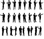 picture of person silhouette  - Business People Silhouette Super Set26 unique high - JPG
