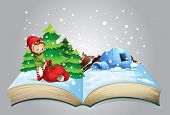 pic of igloo  - Illustration of a book of christmas - JPG