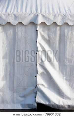 The Wall Of The White Tent With Laces