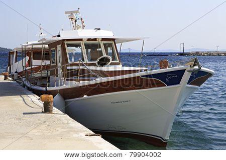 Pleasure boat in the Aegean Sea.