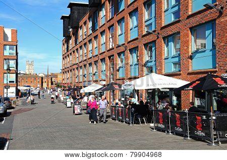 Pavement cafes, Gloucester.