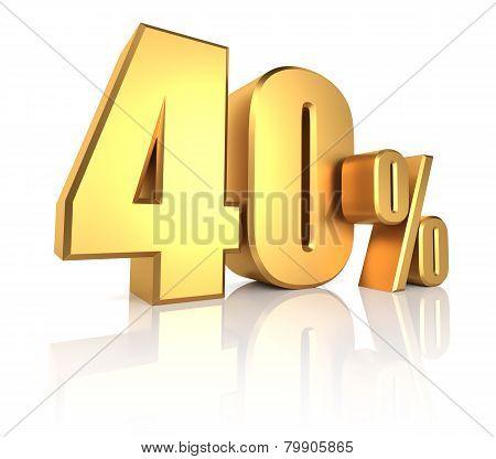 Gold 40 Percent