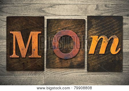 Mom Concept Wooden Letterpress Type