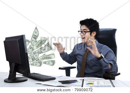 Surprised Businessman Isolated