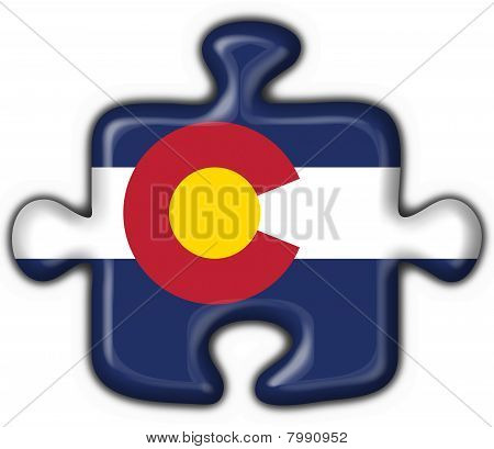 Colorado (usa State) Button Flag Puzzle Shape