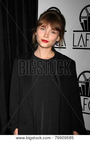 LOS ANGELES - JAN 10:  Agata Trzebuchowska at the 40th Annual Los Angeles Film Critics Association Awards at a Intercontinental Century City on January 10, 2015 in Century City, CA