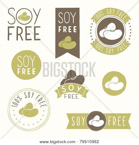 Soy free hand drawn labels.