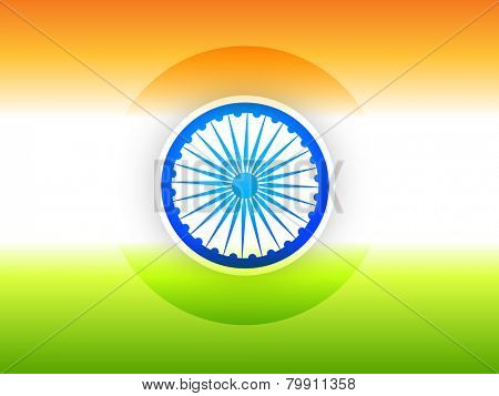 vector simple Indian flag design illustration