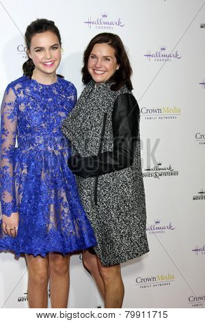 LOS ANGELES - JAN 8:  Bailee Madison, Patricia Riley at the Hallmark TCA Party at a Tournament House on January 8, 2014 in Pasadena, CA
