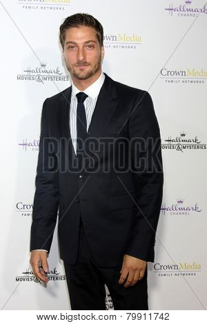 LOS ANGELES - JAN 8:  Daniel Lissing at the Hallmark TCA Party at a Tournament House on January 8, 2014 in Pasadena, CA
