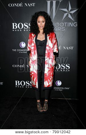LOS ANGELES - JAN 9:  Tia Mowry at the W Magazine`s Shooting Stars Exhibit at the Old May Company Building on January 9, 2015 in Los Angeles, CA