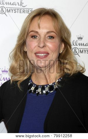 LOS ANGELES - JAN 8:  Genie Francis at the Hallmark TCA Party at a Tournament House on January 8, 2014 in Pasadena, CA